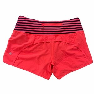Lululemon NWOT Run Time Shorts Electric Coral